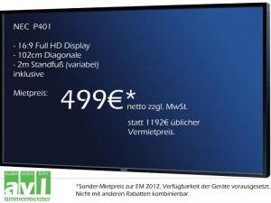 Bildschirm zur EM 2012 mieten