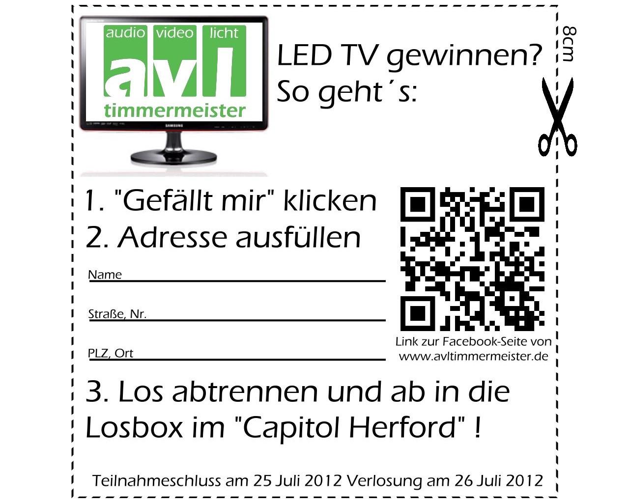Gewinnspiel Samsung LED TV