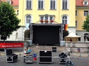 Aufbau LED Screen