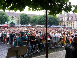 Herford Rathausplatz WM Finale