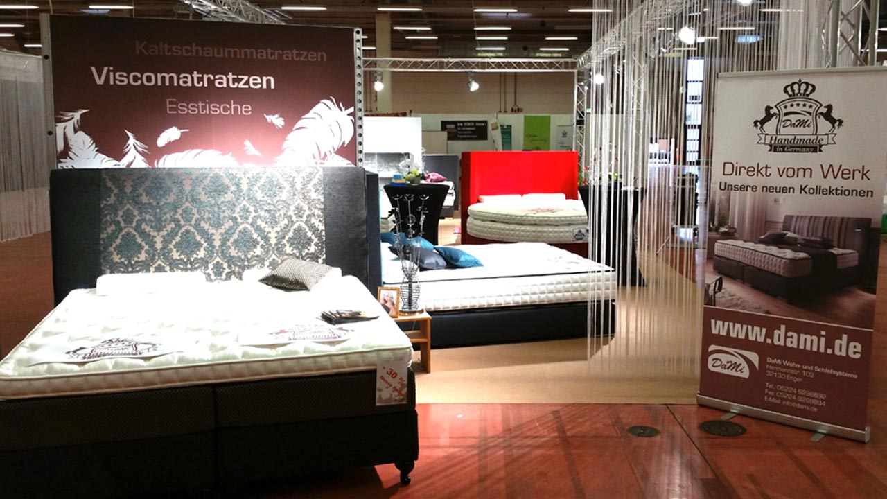 dami betten auf der naturaspa messe avltimmermeister. Black Bedroom Furniture Sets. Home Design Ideas