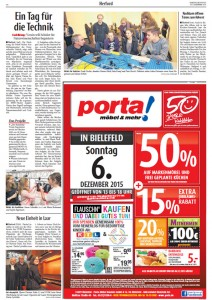 Zeitungsartikel Techniktag MINT